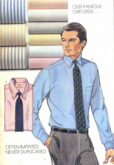 The original Brooks Brothers button-down shirt