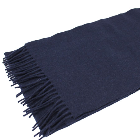 My navy lambswool Johnsons of Elgin scarf (from exquisitetrimmings.com)
