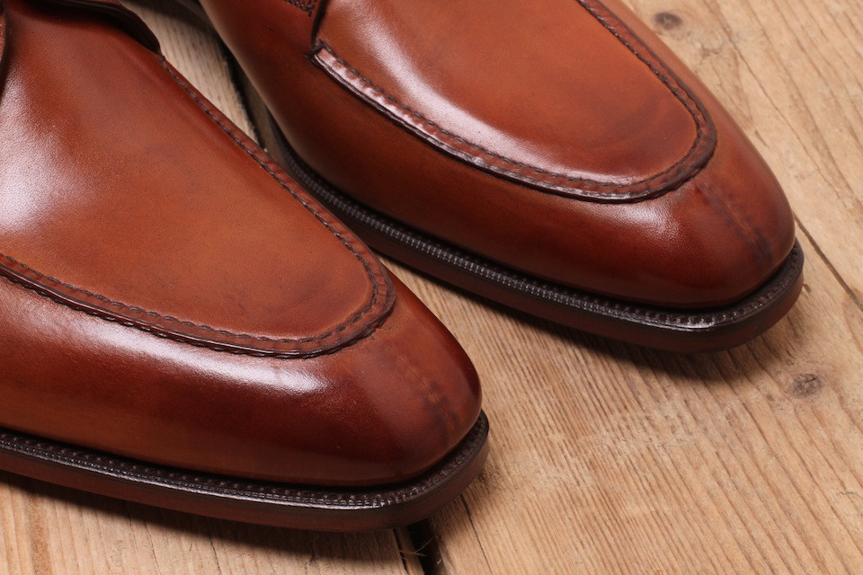 "Raised stitching on a pair of Gaziano and Girling ""Hove's"""