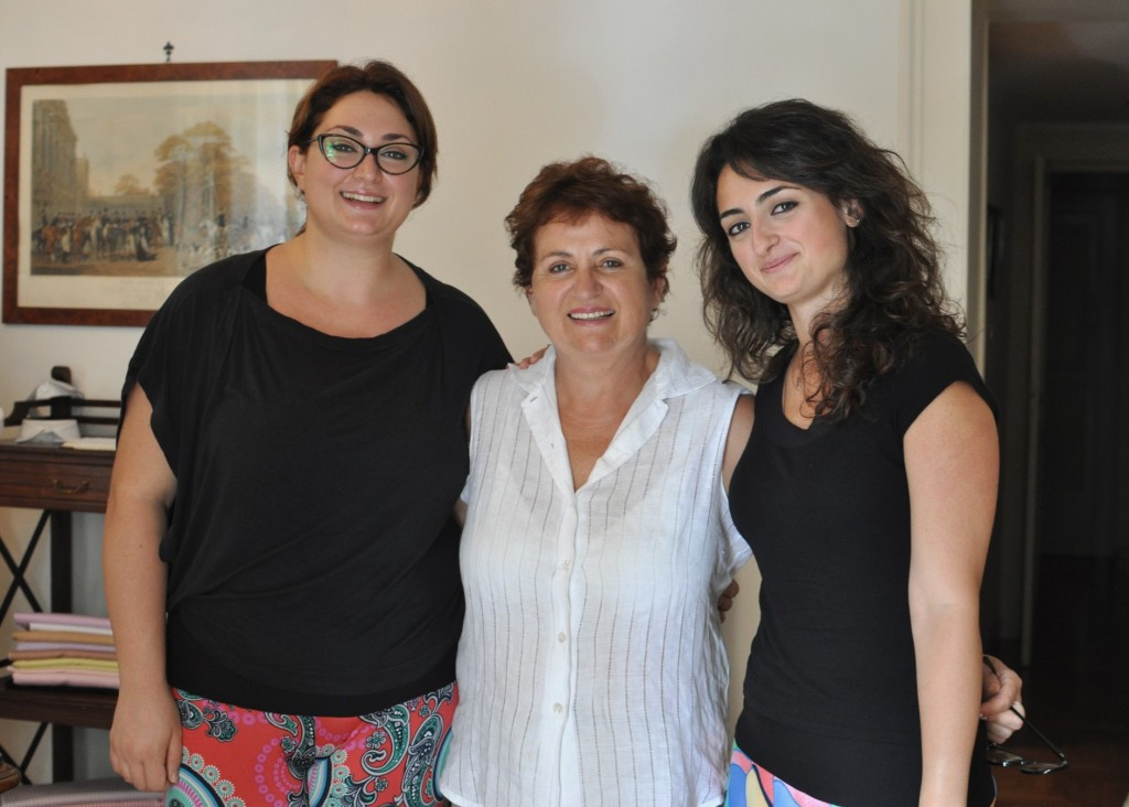 From left to right, Simona, Anna and Antonella