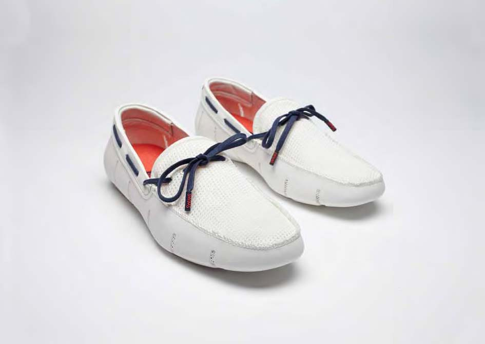 Swims loafers white