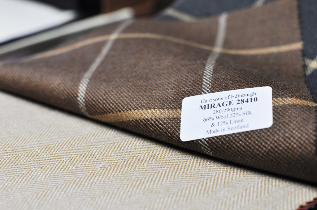 Harrisons of Edinburgh. Mirage Range - Wool, silk and linen blend