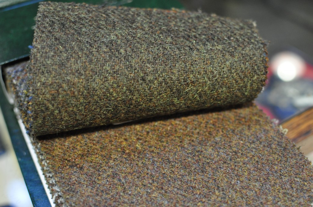 Harris Tweed in earthy tones