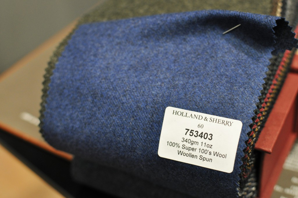 A close second. Holland and Sherry flannel in a slightly heavier weight, in a mottled blue/grey