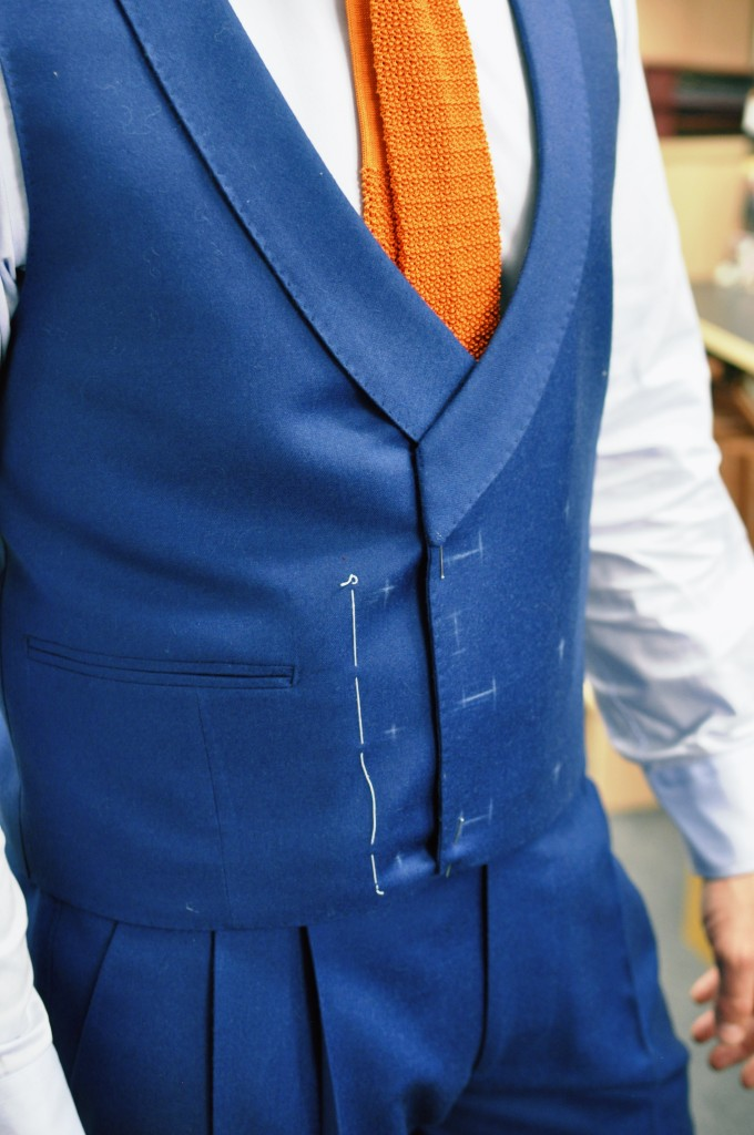 The waistcoat requires a little cleaning up to smooth out the fit at my sides