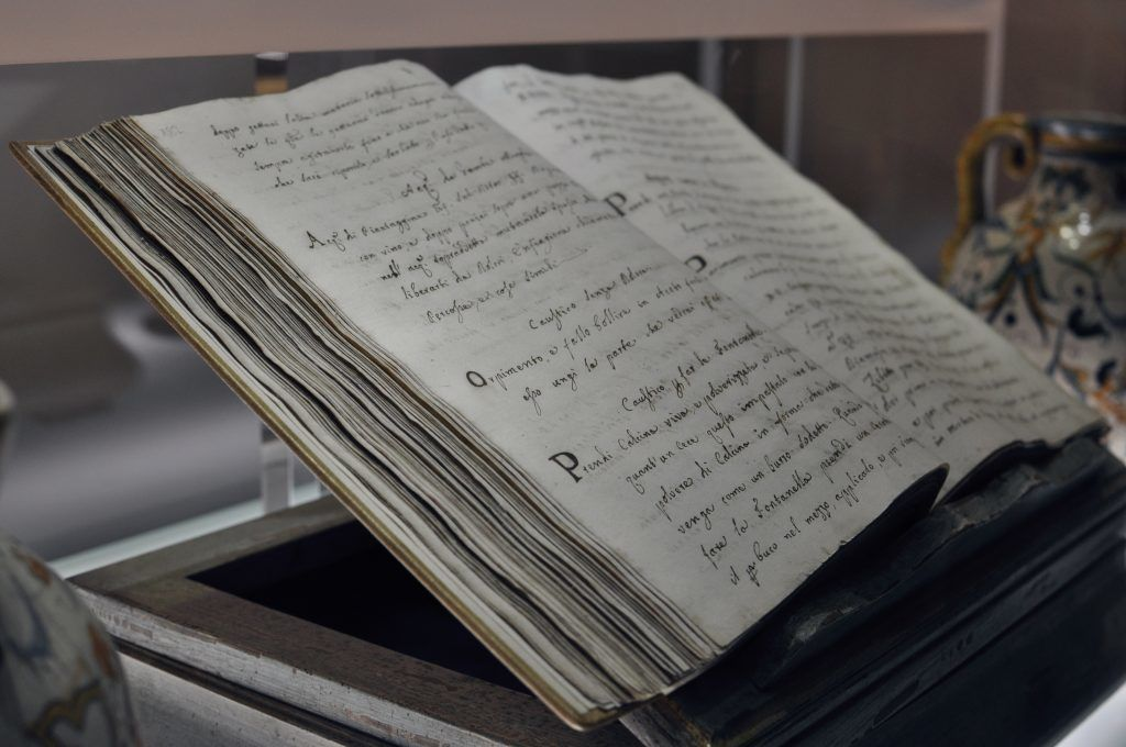 Centuries old recipe book for treatments